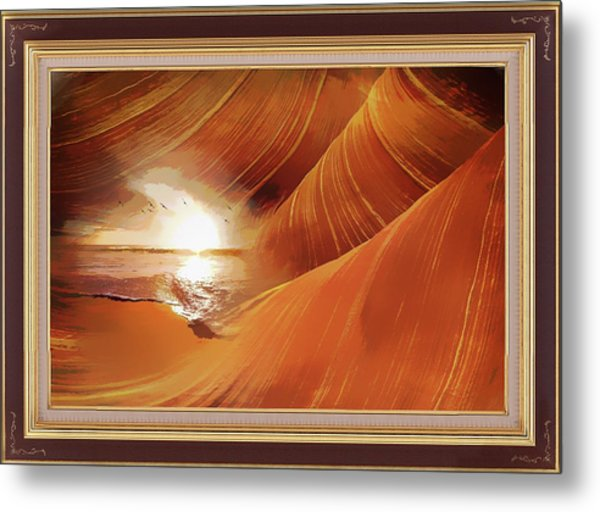 The Desert And The Tide Fantasy Metal Print