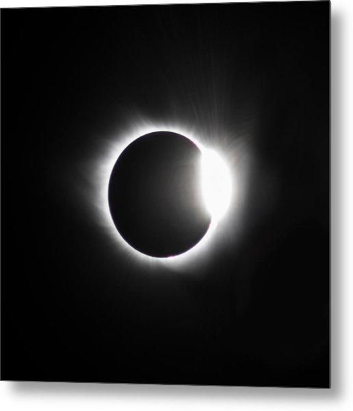 The Diamond Before Totality  Metal Print by Christine Buckley