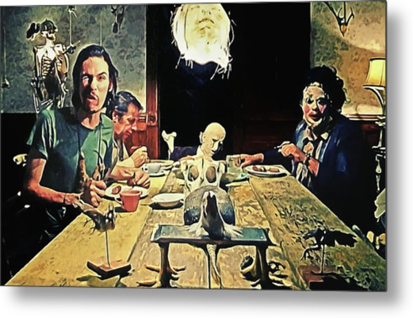The Dinner Scene - Texas Chainsaw Metal Print