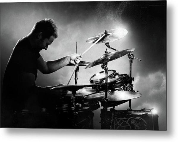 The Drummer Metal Print