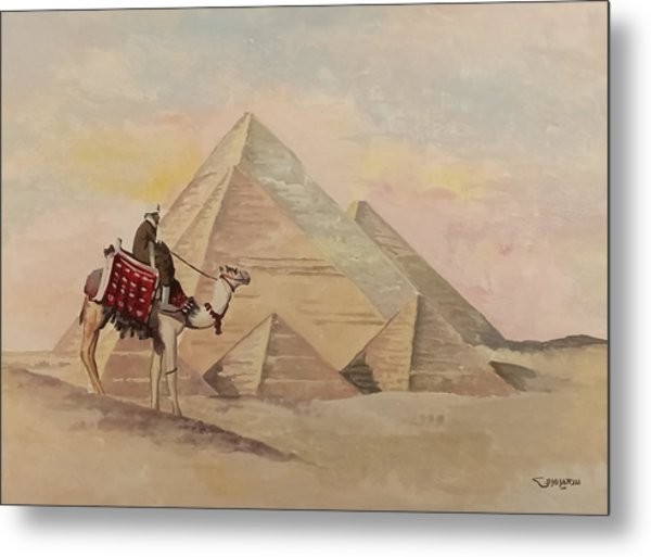 The Egyptian Pyramids Metal Print