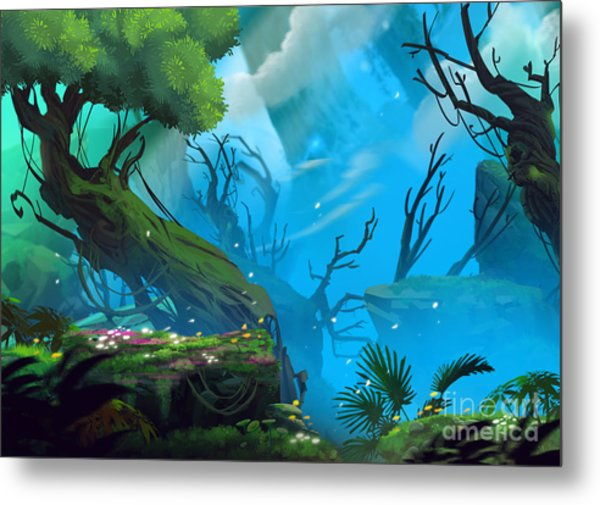 The Entrance Of Mystery Valley In A Metal Print