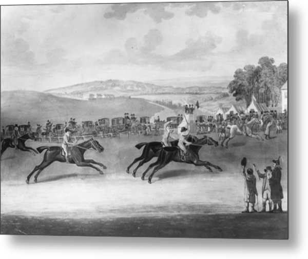 The Epsom Derby Metal Print by Rischgitz
