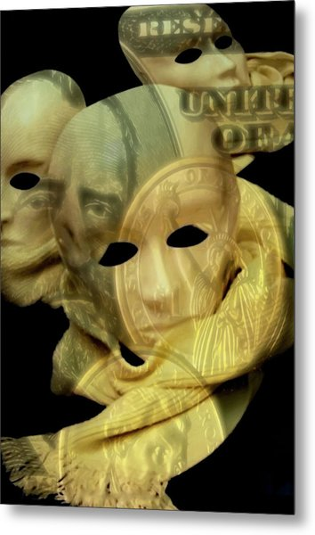 The Face Of Greed Metal Print