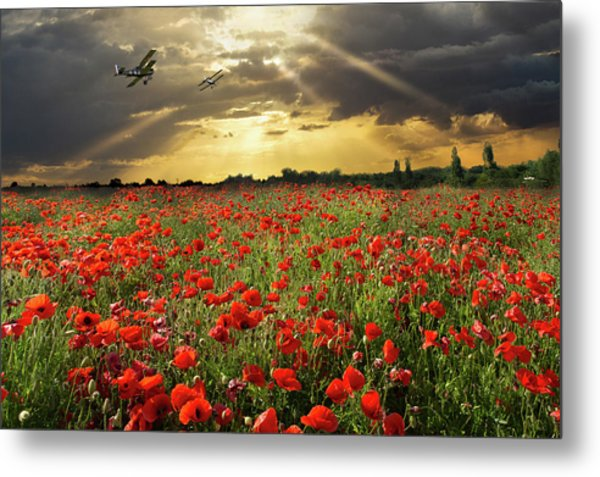 Metal Print featuring the photograph The Final Sortie Wwi Version by Gary Eason