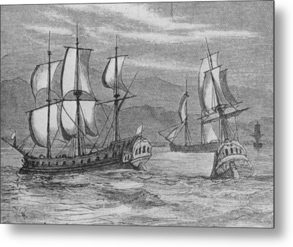 The First Fleet Metal Print by Hulton Archive