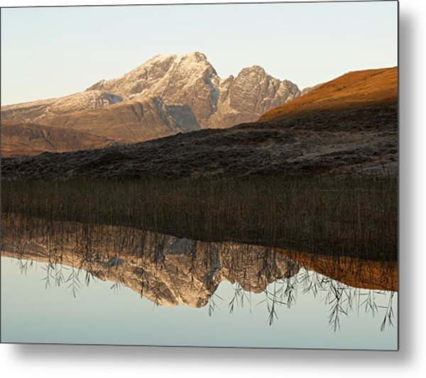 Metal Print featuring the photograph The First Hint Of Winter At Loch Cill Chriosd by Stephen Taylor
