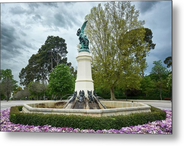 The Fountain Of The Fallen Angel In Madrid Metal Print