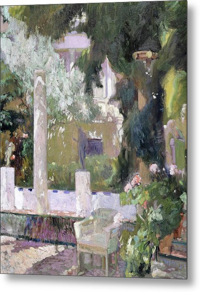 The Gardens At The Sorolla Family House - Digital Remastered Edition Metal Print