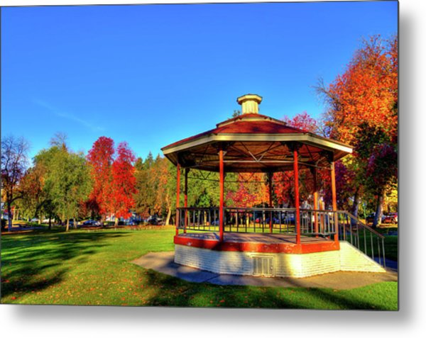 Metal Print featuring the photograph The Gazebo At Reaney Park by David Patterson
