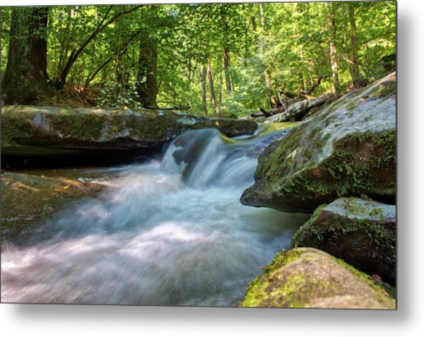 Metal Print featuring the photograph The Gentle Stream Fall by Mark Dodd