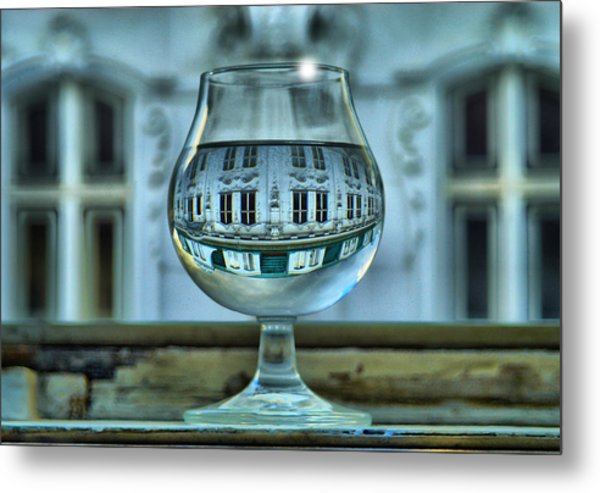 The Glass - Living Upside Down Metal Print