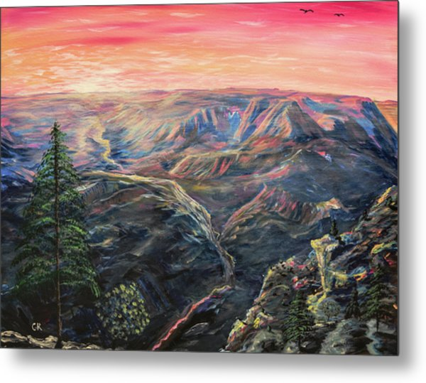 Metal Print featuring the painting The Grand Canyon by Chance Kafka
