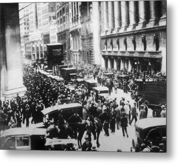The Great Crash Metal Print by Hulton Archive