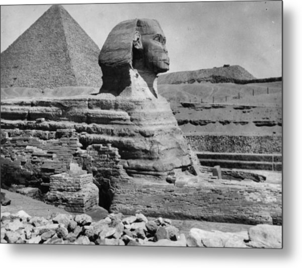 The Great Sphinx Metal Print by Hulton Archive