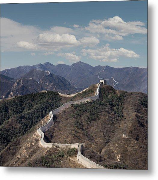 The Great Wall At Badaling, Beijing Metal Print by Ed Freeman