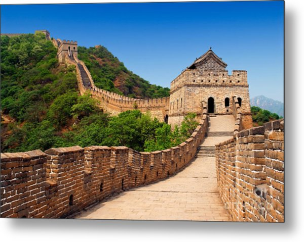 The Great Wall Of China Metal Print by Izmael