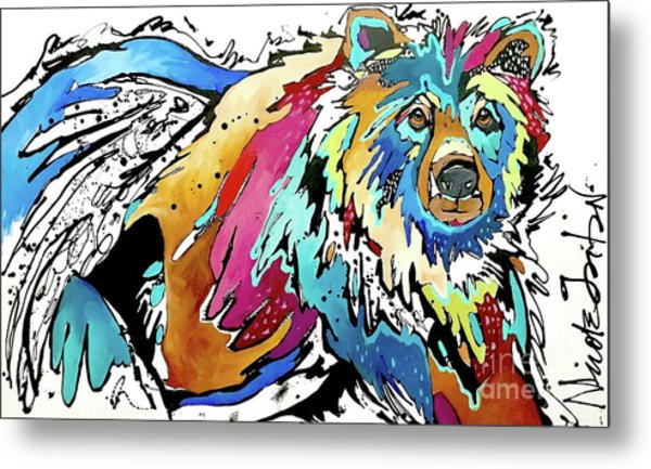 The Grizzly Details Metal Print