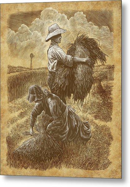 The Harvesters Metal Print