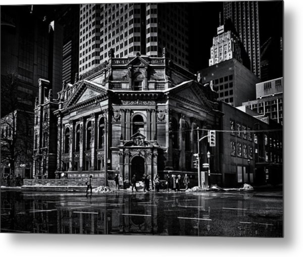 The Hockey Hall Of Fame Toronto Canada Reflection Metal Print by Brian Carson