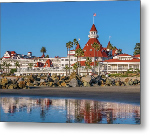 The Hotel Del Coronado San Diego Metal Print