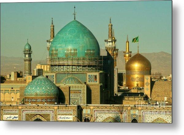 The Imam Reza Shrine In Masshad, Iran Metal Print