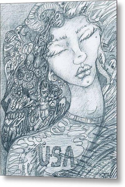 The Immigrant Heart Metal Print