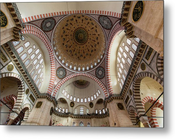 The Interior Of Süleymaniye Mosque Metal Print