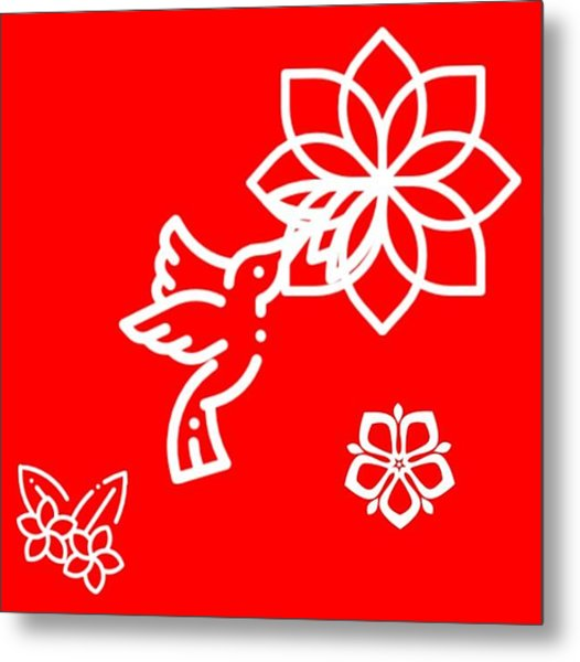 The Kissing Flower On Flower Metal Print