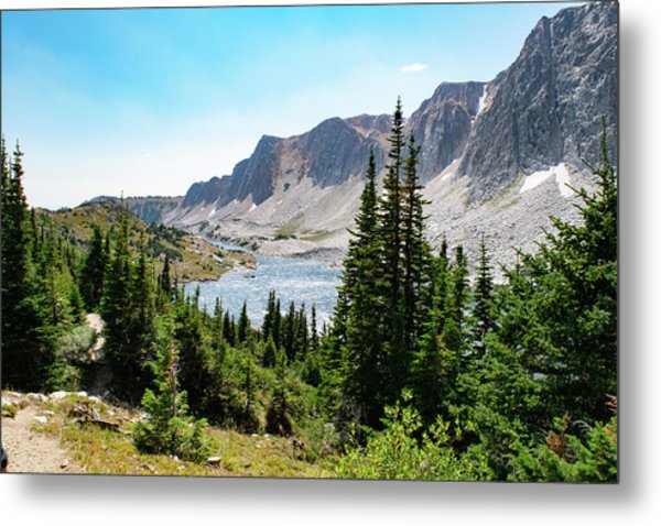 The Lakes Of Medicine Bow Peak Metal Print
