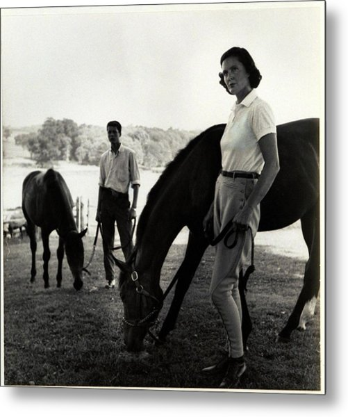 The Ledyards, Riding Metal Print by Toni Frissell