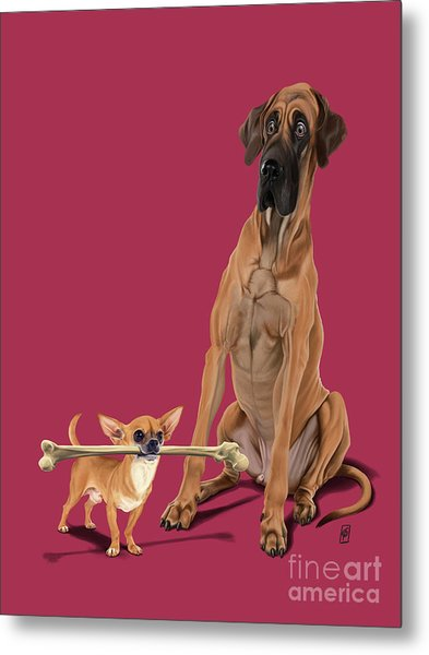 Metal Print featuring the digital art The Long And The Short And The Tall Colour by Rob Snow