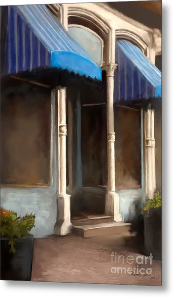 Metal Print featuring the digital art The M Cafe by Dwayne Glapion