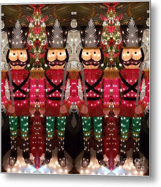 The March Of The Toy Soldiers Is On. Metal Print