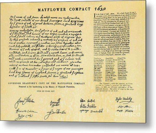The Mayflower Compact  Metal Print