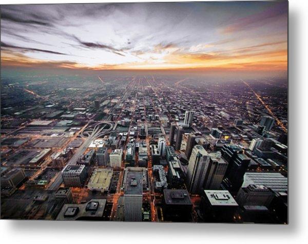 The Metropolis Looking West Metal Print by By Ken Ilio