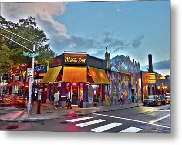 The Middle East In Cambridge Central Square Dusk Metal Print