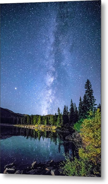 The Milky Way Over Echo Lake Metal Print