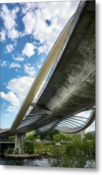 The Millennium Bridge From Below Metal Print