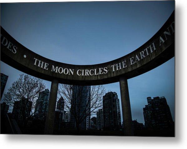 The Moon Circle Metal Print