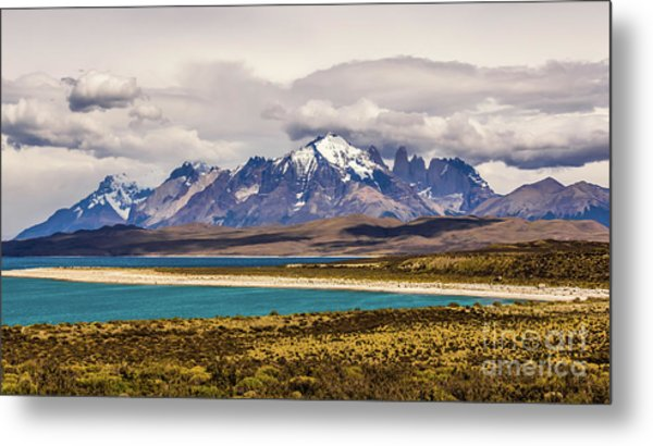 The Mountains Of Torres Del Paine National Park, Chile Metal Print