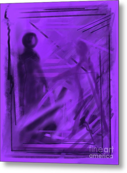 The Mystery Outside My Window Metal Print