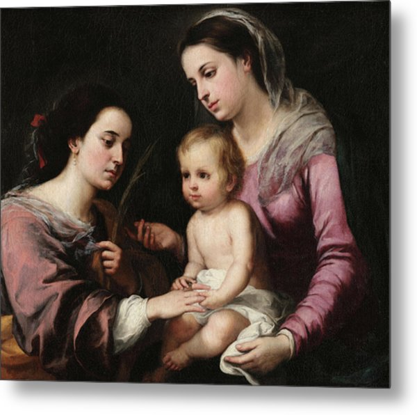 The Mystic Marriage Of St. Catherine Metal Print