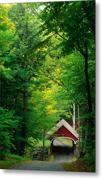 The New Hampshire Covered Bridge 39 Metal Print by Mark Newman