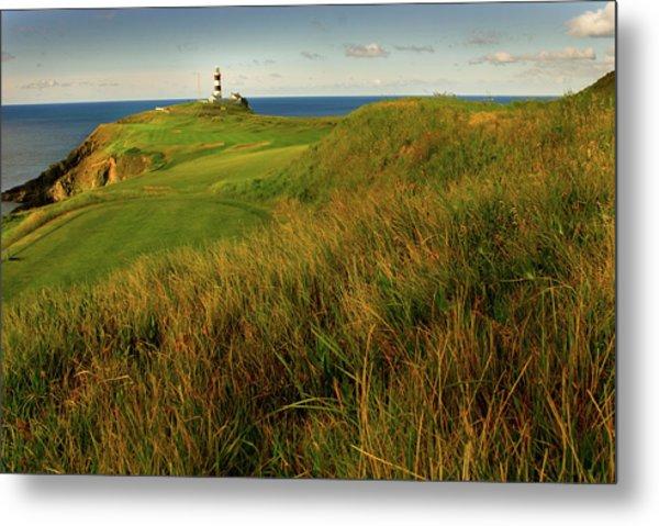 The Old Head Golf Links, Kinsale Metal Print by E J Carr