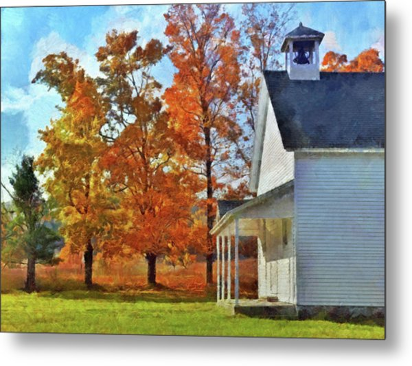 The Old Schoolhouse At Port Oneida Metal Print