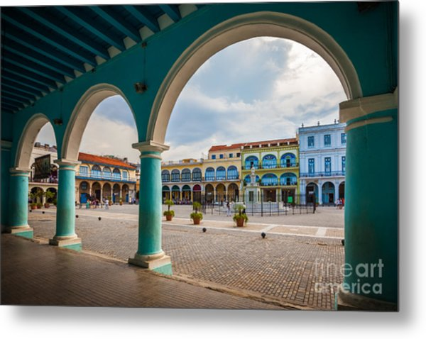 The Old Square Or Plaza Vieja From The Metal Print