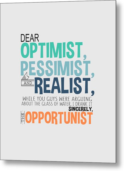 The Opportunist Metal Print