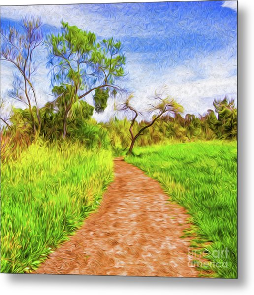 Metal Print featuring the digital art The Path That Lies Ahead by Kenneth Montgomery