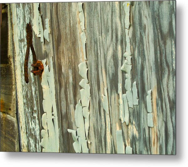 The Peeling Wall Metal Print